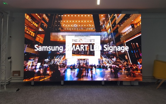 samsung led showroom paris sidev